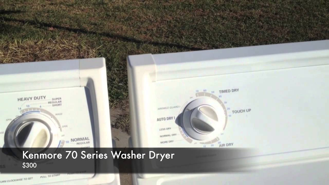 Kenmore 70 Series Washer Dryer - YouTube