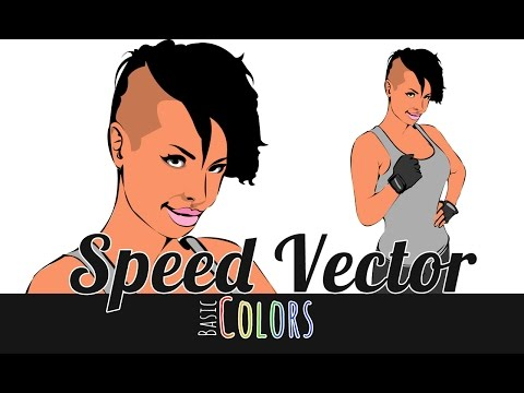 Vector Speedpainting - Basic Colors - Christy Mack