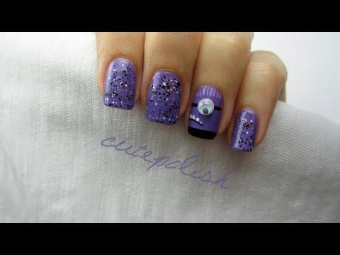 Despicable Me 2: Evil Purple Minion Nails