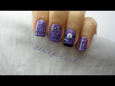 despicable me 2 evil purple minion nails youtube