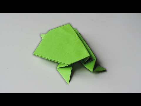 How To Make A Paper Jumping Frog | EASY Origami Folding tutorial