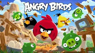 Angry birds. Cartooon game video.