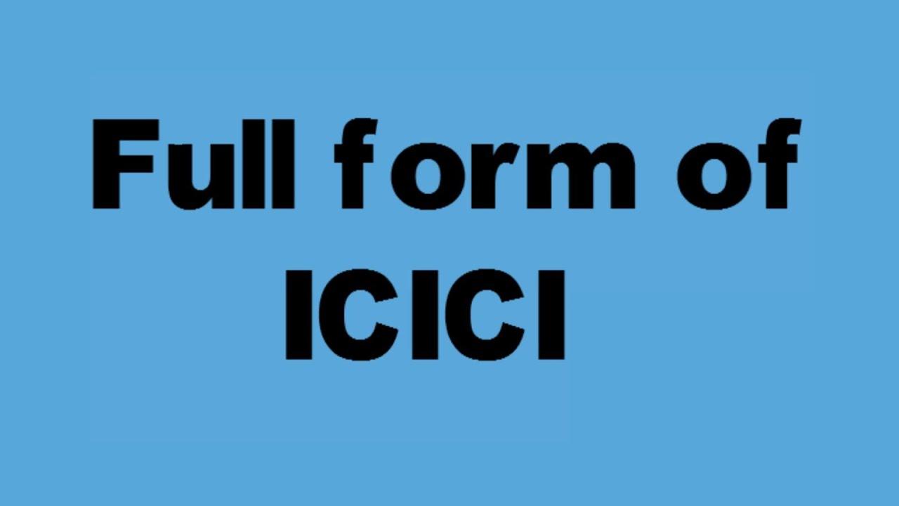 full form of ICICI - YouTube