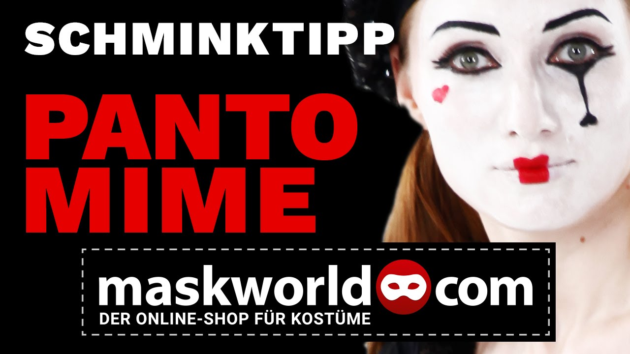 Schminktipp Pantomime Make Up Tutorial Von Maskworldcom Youtube