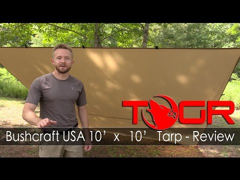 Inexpensive Bushcraft Tarp - Bushcraft USA 10' x 10' Tarp - Review