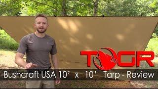 Inexpensive Bushcraft Tarp - Bushcraft USA 10' x 10' Tarp - Review