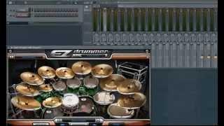 Раскладка на микшер eZ Drummer в FL Studio