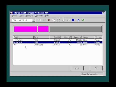 TOP4T-PHAN CHIA O DIA VOI Norton PartitionMagic Pro Server 8.05.avi