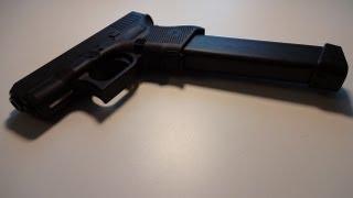 Glock 26 Gen 4, 9mm, 33 round magazine shooting