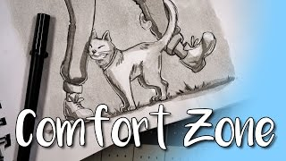 How to Draw Outside Your Comfort Zone & Ink Speedpaint