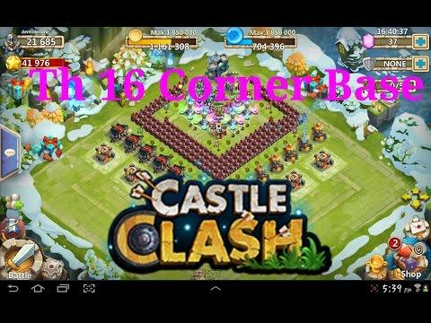 Castle Clash | Th 16 Corner Base