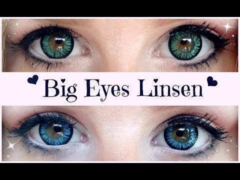 Niedriger Verkaufspreis Super günstig große Auswahl an Farben und Designs Big Eyes Kontaktlinsen Make-up, Einsetzen & Aufbewahrung (Carina)