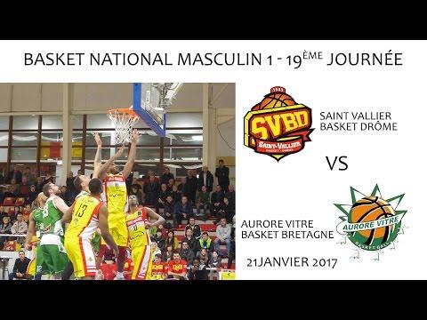Basket NM1 19ème journée SVBD vs VITRE AURORE 21 01 2017
