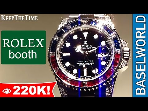 Rolex Booth Tour at Baselworld in Basel, Switzerland (KeepTheTime.com)