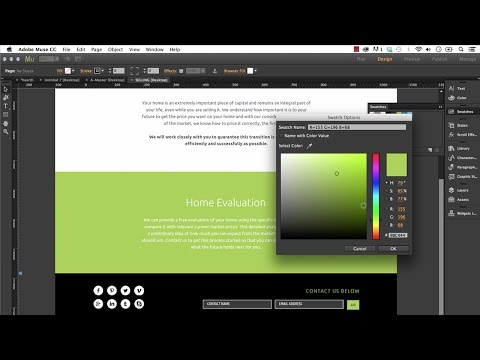 Editing an Adobe Muse Template | Tips & Tricks! - Training by MuseThemes.com