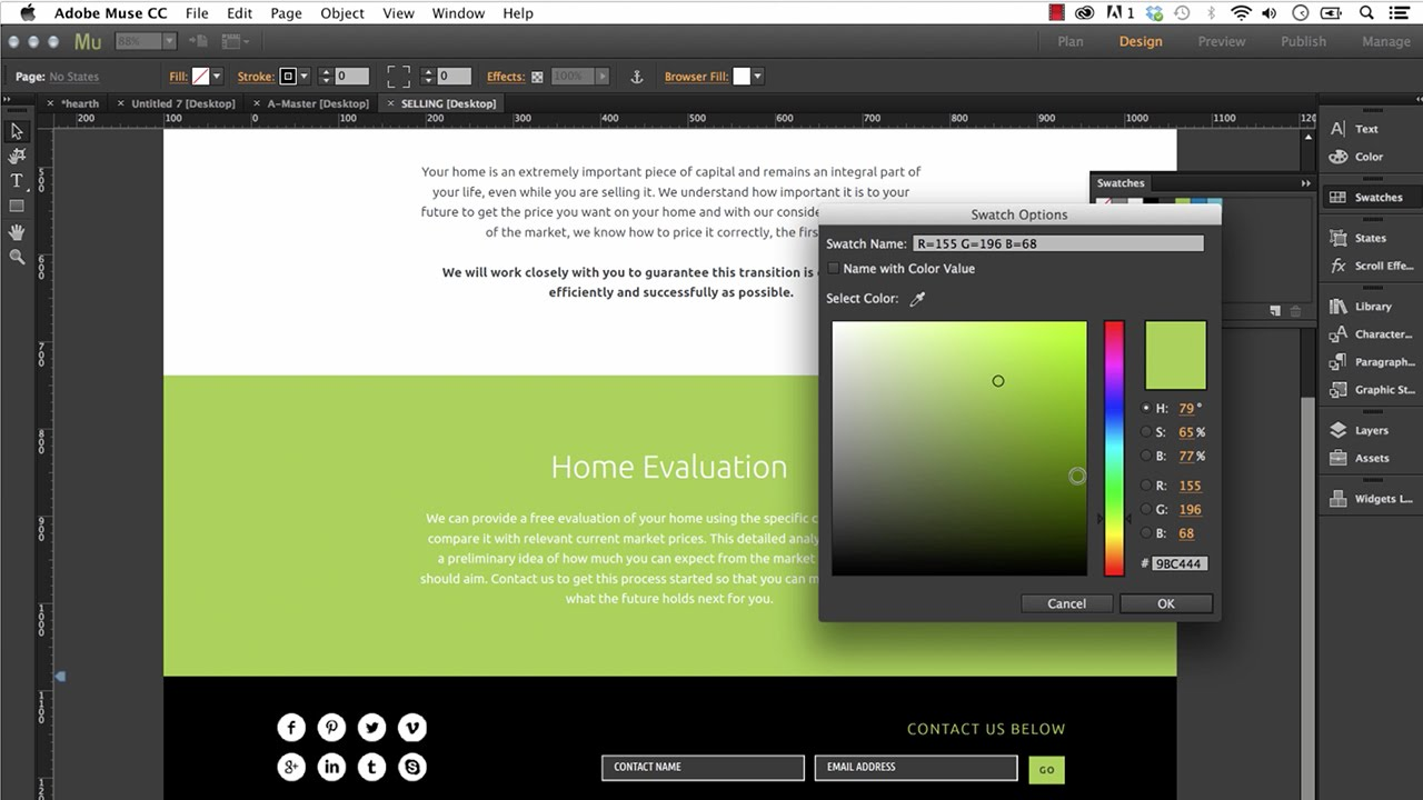 Editing an Adobe Muse Template | Tips & Tricks! - Training by ...