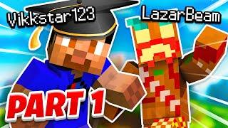 Teaching Lazarbeam Minecraft... Part 1