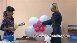 Урок 7. Цветок из воздушных шаров