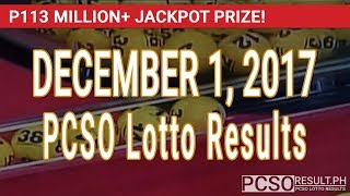 PCSO Lotto Results Today December 1, 2017 (6/58, 6/45, 4D, Swertres & EZ2)