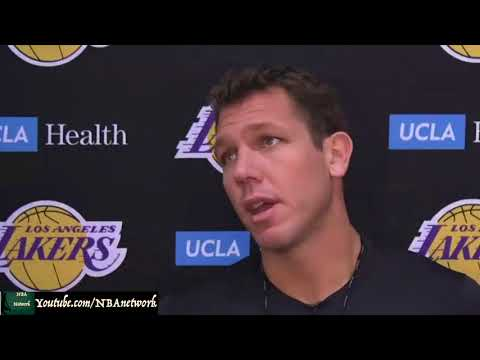Luke Walton on First Practice and His Take on the Players I LA Lakers