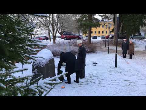20171206 Malmi church (Helsinki, Finland): WW2 Memorial; wreath laying ceremony - 1