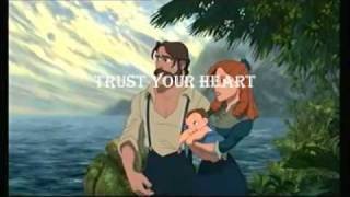 Two Worlds-Tarzan Video with Lyrics!