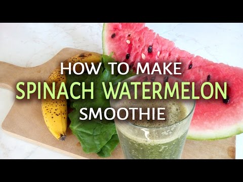 Spinach Watermelon Banana Smoothie | Green Smoothie Recipes