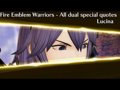 Fire Emblem Warriors - ALL Lucina Dual Special Quotes