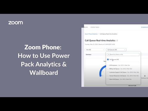 How to Use Zoom Phone Power Pack Analytics & Wallboard