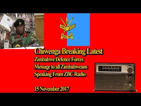 Chiwenga Latest Breaking, Zimbabwe Defense Forces Message to All Zimbabwean, The President is Safe
