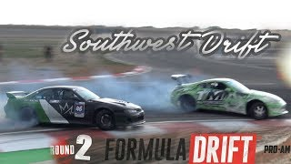 Southwest Drift ProAm Comp in the wet! - 350z diff drifts!