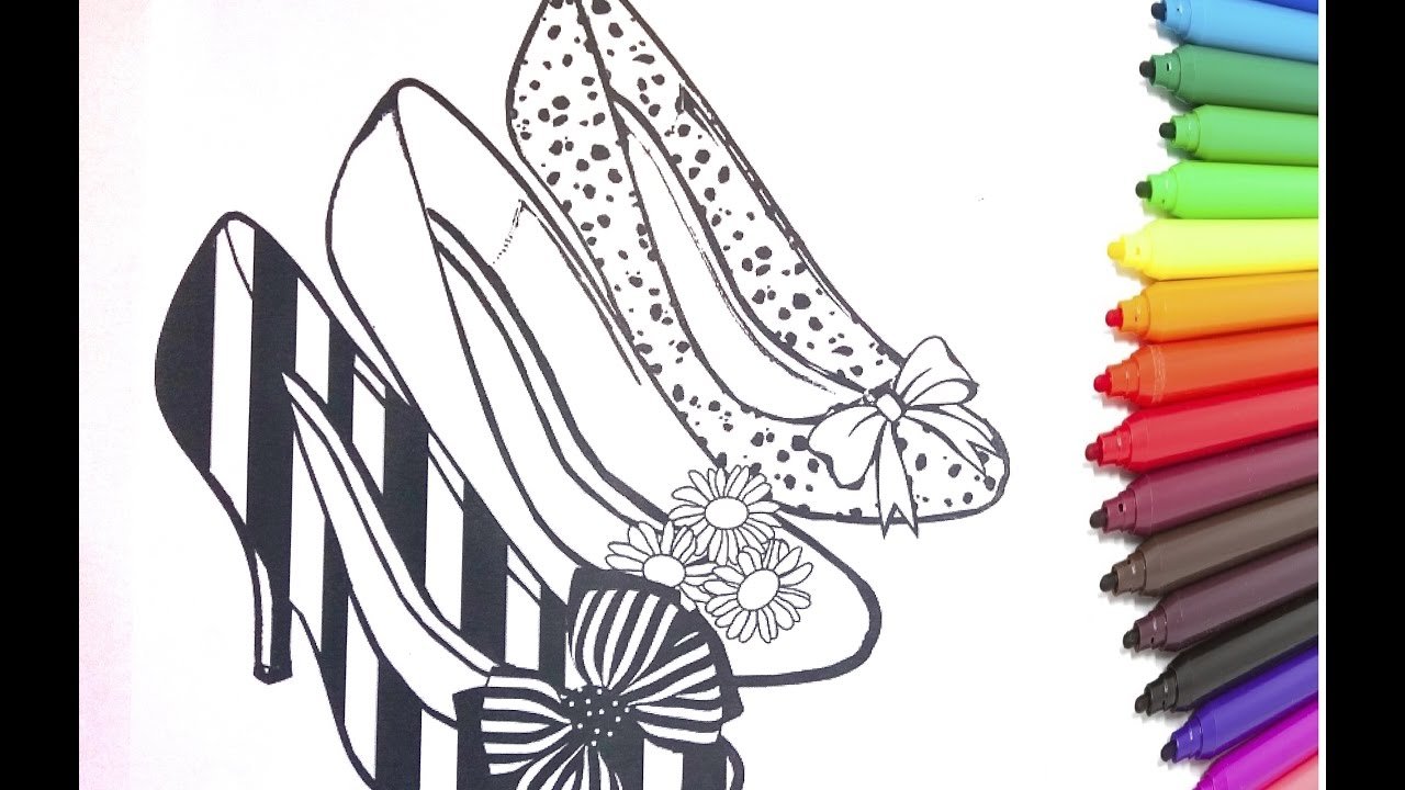 high heels coloring book learn to color high heels shoes
