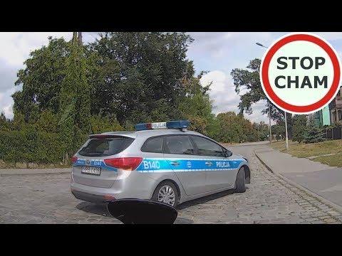 Bardzo dziwne zachowanie patrolu policji