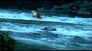 Extreme kayaking down Compression Twisted falls