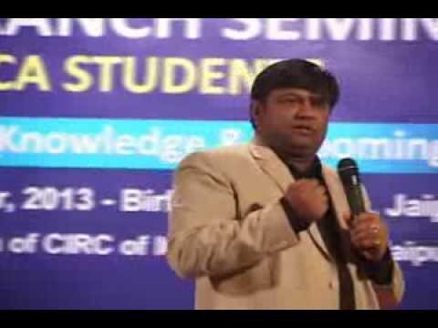 Addressing the CA Students in ICAI Jaipur