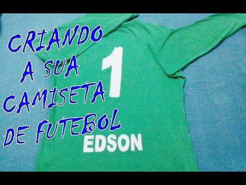 d853ad3fa6 Como fazer uma camisa de futebol - YouTube