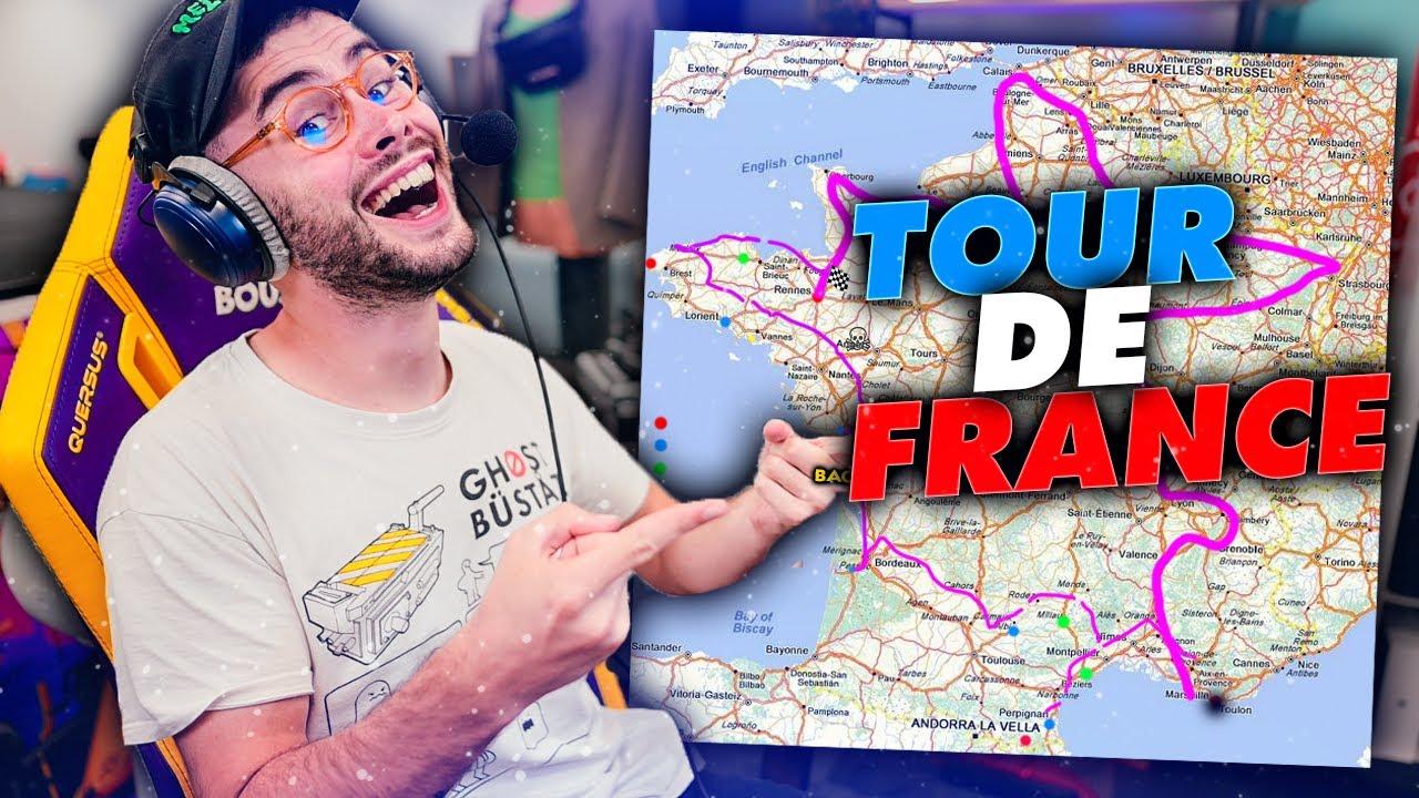 LE TRAJET DE MON TOUR DE FRANCE EN MOTO !