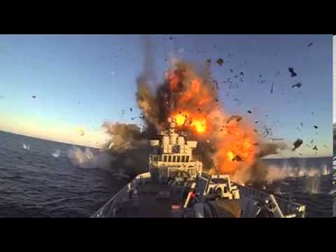 Norwegian military's ship killing missile blows up a frigate