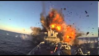 Norwegian military's ship killing missile blows up a frigate thumbnail