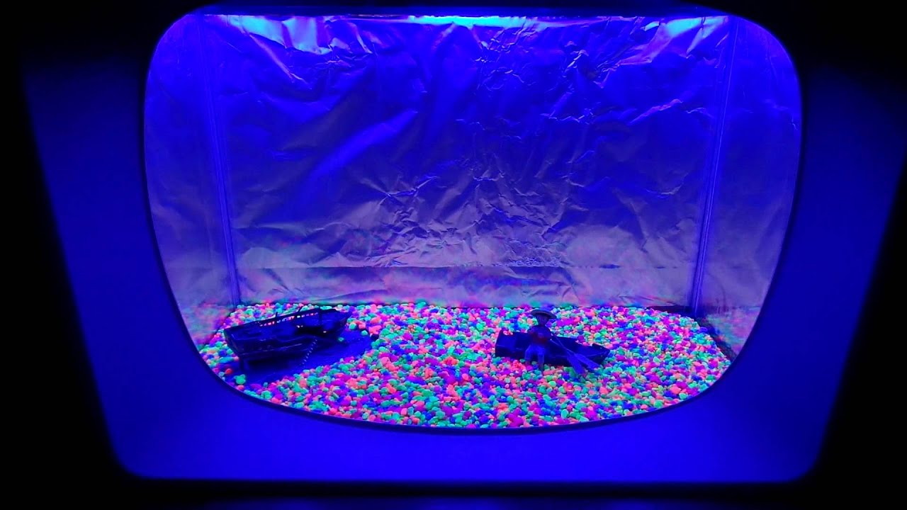 vintage retro neon led fish tank aquarium tv ipod dock