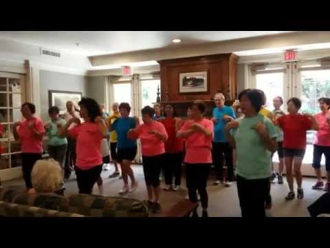 'SOS Dance Crew' SENIORS Zumba Dance at KIRKWOOD Assisted Living Sept 8, 2015