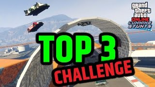 GTA 5 CUNNING STUNTS DLC GAMEPLAY TOP 3 CHALLENGE ( GTA 5 FUNNY MOMENTS )