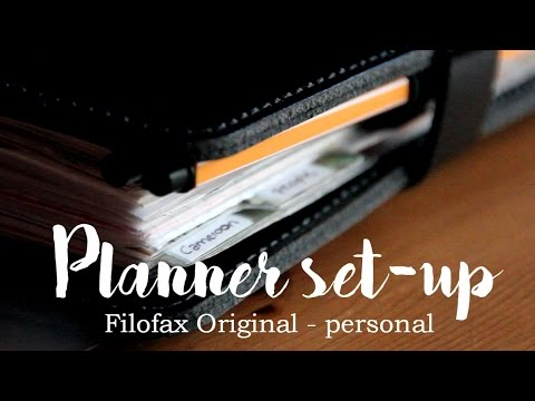 Planner set-up | Filofax Original Patent Black