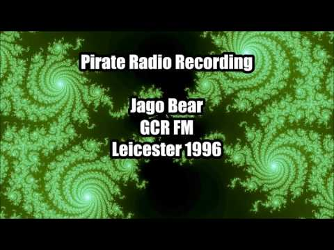 DJ Jago Bear on GCR FM (107.1 Leicester) 1996 Jungle Pirate Radio