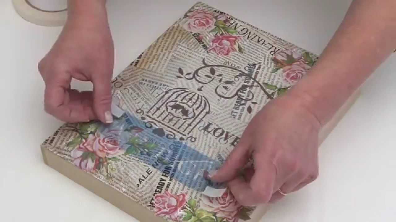 Como aplicar laminas de decoupage con adhesivo - Laminas para hacer cuadros ...