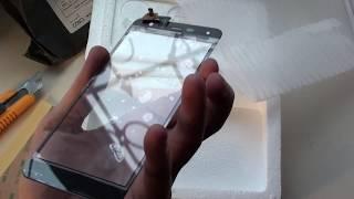 распаковка, сенсорное стекло для Fly FS517