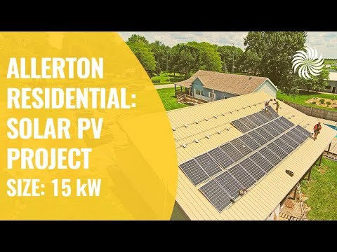 Allerton, IA -  Residential: 15 kW Solar PV Project