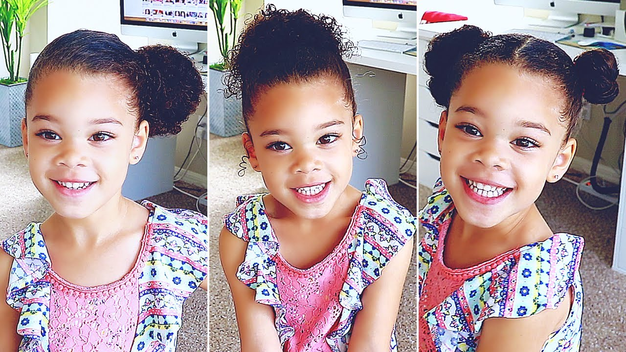 6 Cute Hairstyles For Curly Mixed Hair Easy Styling Curly Hair Toddler Victoria Vaden Youtube