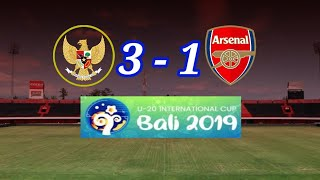 Timnas U-20 All Star vs Arsenal U-20 (3-1) !!! Arsenal kocar kacir dengan permainan Indonesia U-20