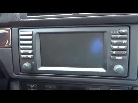 BMW 5 Series E39, магнитола 16:9, настройка, меню